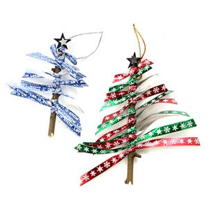 Ribbon Twist Tree Decoration - seasonal craft how to guide