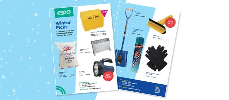 ESPO product winter picks for your organisation