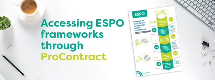 Accessing ESPO frameworks through ProContract by Proactis